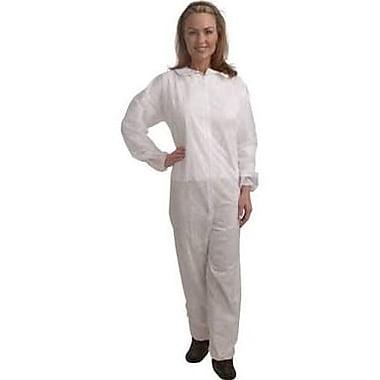 Keystone CVL-NW-E-MD White Polypropylene Disposable Coverall, Medium