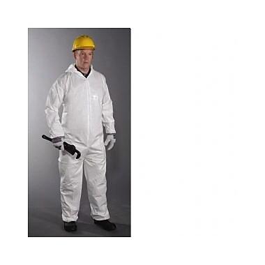 Keystone CVL-NWP-E-4XL White Laminated Polypropylene Disposable Coverall, 4XL