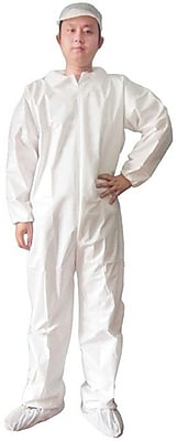 Keystone CVLS-E White Heavyweight SMS Disposable Coverall/Bunny Suit, XL