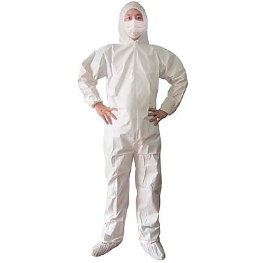 Keystone CVL-SMS-HE-5XL White Heavyweight SMS Disposable Coverall, 5XL