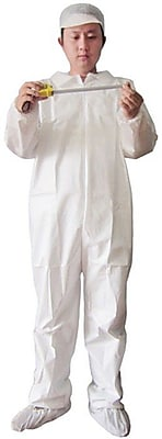 Keystone CVL-KG-E-2XL White Keyguard Disposable Coverall, 2XL