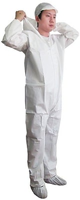 Keystone CVL-KG-HE-2XL White Keyguard Disposable Coverall, 2XL, 25/Box