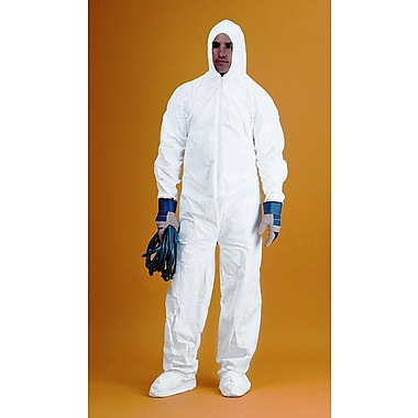 Keystone CVL-KG-B-3XL White Keyguard Disposable Coverall/Bunny Suit, 3XL