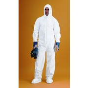 Keystone CVL-KG-B-4XL White Keyguard Disposable Coverall/Bunny Suit, 4XL