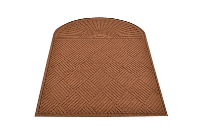 HomeTrax Designs 169E0036BR Guzzler Sunburst Door Mat, Brown, 3' x 6'6