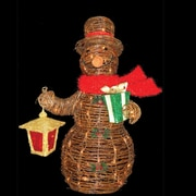 Sterling Inc Rattan Snowman w/ 70 Lights