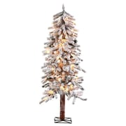 4' Green Alpine Artificial Christmas Tree w/ 150 Clear & White Lights w/ Flocked and Stand