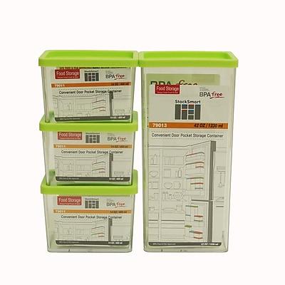 Kinetic Go Green StackSmart Rectangular 4-Container Food Storage Set; Green