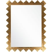 "Surya MRR1005-5745 57"" x 45"" Frame made from MDF Mirror, brilliant gold"