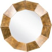 """Surya MRR1010-3030 30"""" x 30"""" Frame made from MDF Mirror, Bronze"""