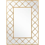 "Surya MRR1012-4055 30"" x 30"" Frame made from MDF Mirror, aged gold"