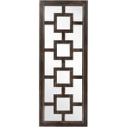 "Surya MRR1018-7027 30"" x 42"" Frame made from MDF Mirror, weathered wood"
