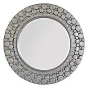 """Surya RWM2003-3636 36"""" x 36"""" Resin Frame Mirror, Silver"""