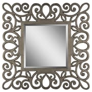 "Surya RWM2006-4242 42"" x 42"" Frame made from MDF Mirror, Pewter"