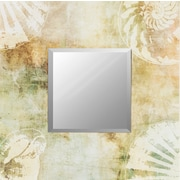 "Surya RWM2013-2626 26"" x 26"" Frame made from wood Mirror, Painted"