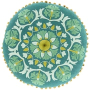 Surya Suzani Decorative Pillows 100% Linen AR137-16RD ,Forest, Kelly Green, Moss & Sea Foam