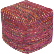 "Surya BOPF-001 18"" x 18"" x 18"" Chocho Pouf, Multi Color"