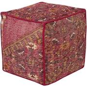 """Surya ZHPF-004 18"""" x 18"""" x 18"""" Wool Pouf"""