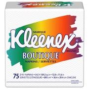 KleenexMD – Serviettes de table imprimées BoutiqueMD, 2 épaisseurs, 75 serviettes