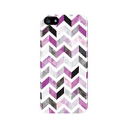 Centon OTM™ Glossy Ziggy Collection Case For iPhone 5, White/Purple