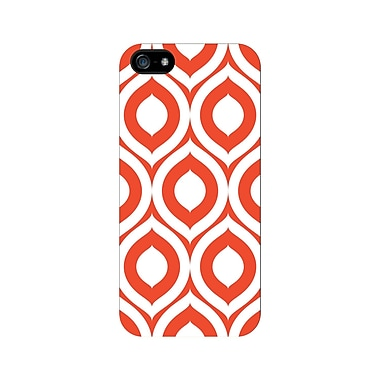 Centon OTM™ Glossy Elm Bold Collection Case For iPhone 5, White/Orange