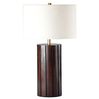 Ziqi Home Wood Wonder Column 30.5'' Table Lamp; Chestnut