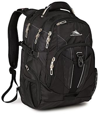 High Sierra Black Ballistic Nylon XBT TSA Backpack (57999-1041)