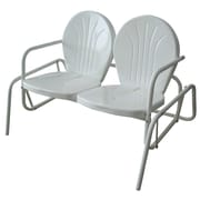 Buffalo AmeriHome Double Seat Glider Chair, White