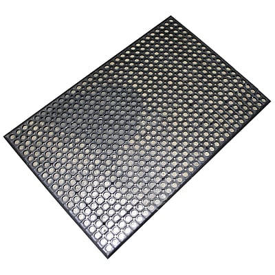 Buffalo Industrial Rubber Floor Mat, 2' x 3', Black