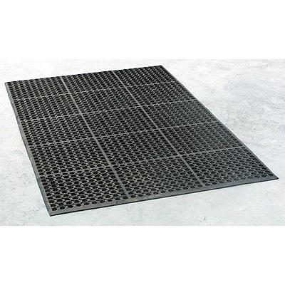 Buffalo Industrial Rubber Floor Mat, 3' x 5', Black 1383851