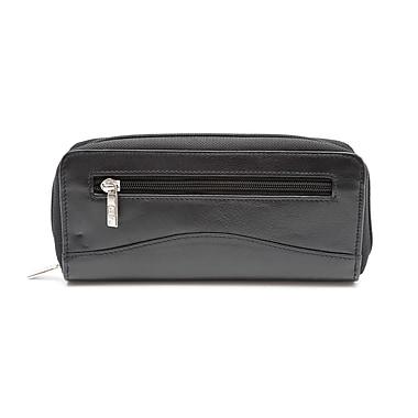 Ashlin® Portefeuille sac-pochette avec glissière tout autour Domenica, noir