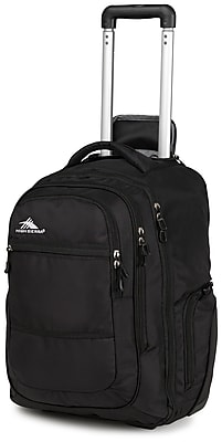 """High Sierra Waffle & Duralite Rev Wheeled Backpack, 21"""" x 14"""", Black"""