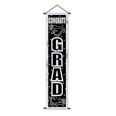 Congrats Grad Velvet Lame Door Panel, 12-1/4