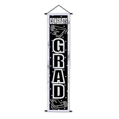 Affiche de porte « Congrats Grad », 12 1/4 po x 4 pi 8 1/2 po, paquet de 2