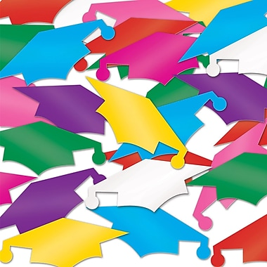 Fanci-Fetti Graduate Caps, Multi-Colour, 5/Pack