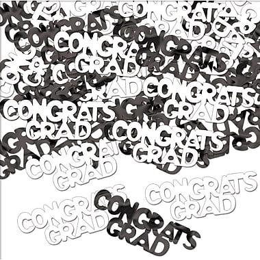 Fanci-Fetti « Congrats Grad », noir et blanc, paquet de 5