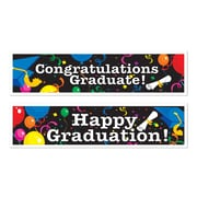 """Graduation Banners, 15"""" x 5', 6/Pack"""