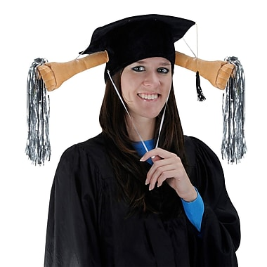 Plush Grad Shaker Cap, One Size Fits Most, 2/Pack