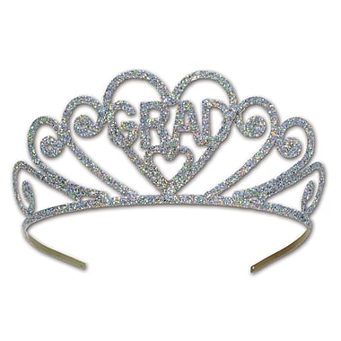 Glittered Metal Grad Tiara, One Size Fits Most