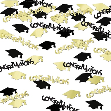 Congrats & Caps Confetti, 5/Pack