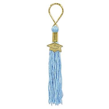 Porte-clés pampille, bleu clair, 5 par paquet