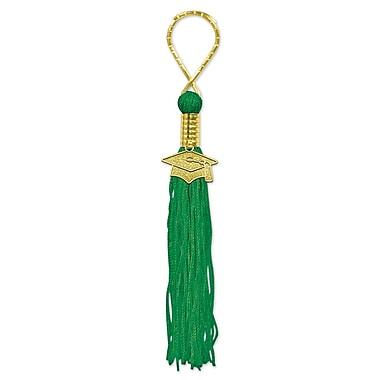 Porte-clés pampille, vert, 5 par paquet