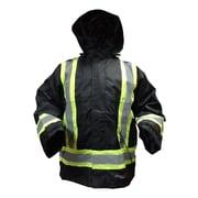 Viking Professional Journeyman 300D FR Waterproof Safety Rain Jackets, Black