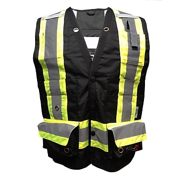 Viking Professional Journeyman 300D Surveyor Safety Vest, Black, 2X-Large