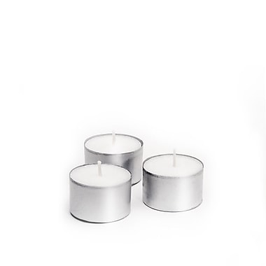 Yummi Unscented Tealight Candles, 8-Hour, 500 Candles/Box