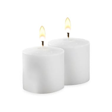 Yummi Unscented Votive Candles, White, 10-Hour, 288 Candles/Box