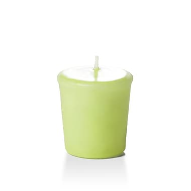 Yummi Unscented Votive Candles, Celery Green, 15-Hour, 144 Candles/Box