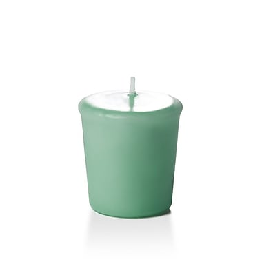 Yummi Unscented Votive Candles, Aqua Green, 15-Hour, 144 Candles/Box