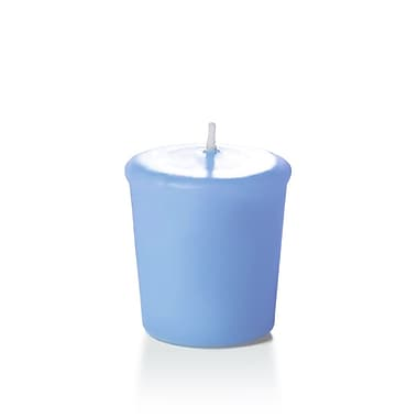 Yummi Unscented Votive Candles, Periwinkle Blue, 15-Hour, 144 Candles/Box