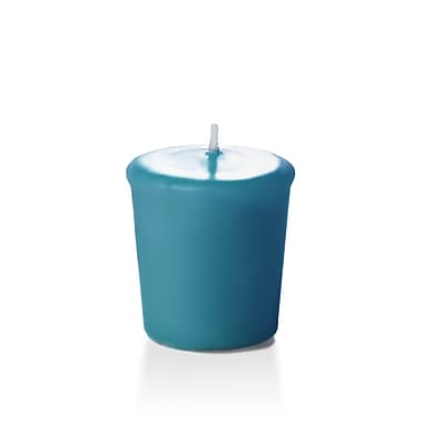 Yummi Unscented Votive Candles, Turquoise, 15-Hour, 144 Candles/Box